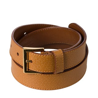 Prada 'Cinghiale' Tan Textured Leather Belt