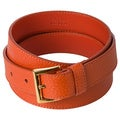 Prada 'Cinghiale' Orange Textured Leather Belt