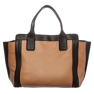 Chloe 'Alison' Small Peach and Black Leather East/West Tote