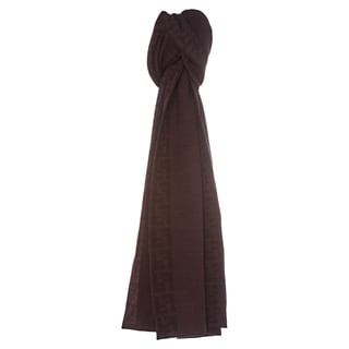 Fendi 'FXT079 00P9Z F0KWF' Wool Scarf With Zucca Trim