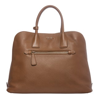 Prada Tan Saffiano Leather Tote