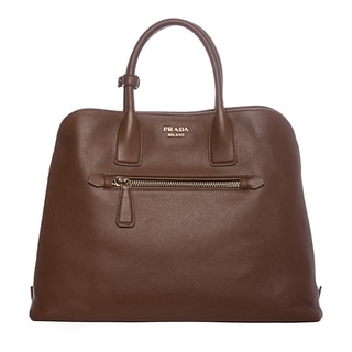 Prada Brown Saffiano Leather Tote