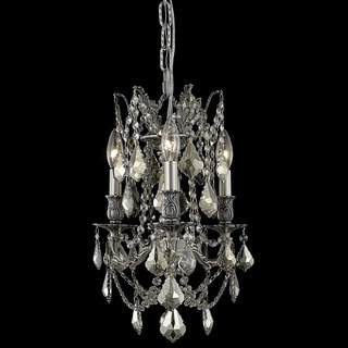 Christopher Knight Home Lugano 3-light Crystal and Pewter Chandelier