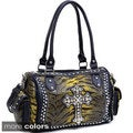 Animal Print Rhinestone Cross Shoulder Bag