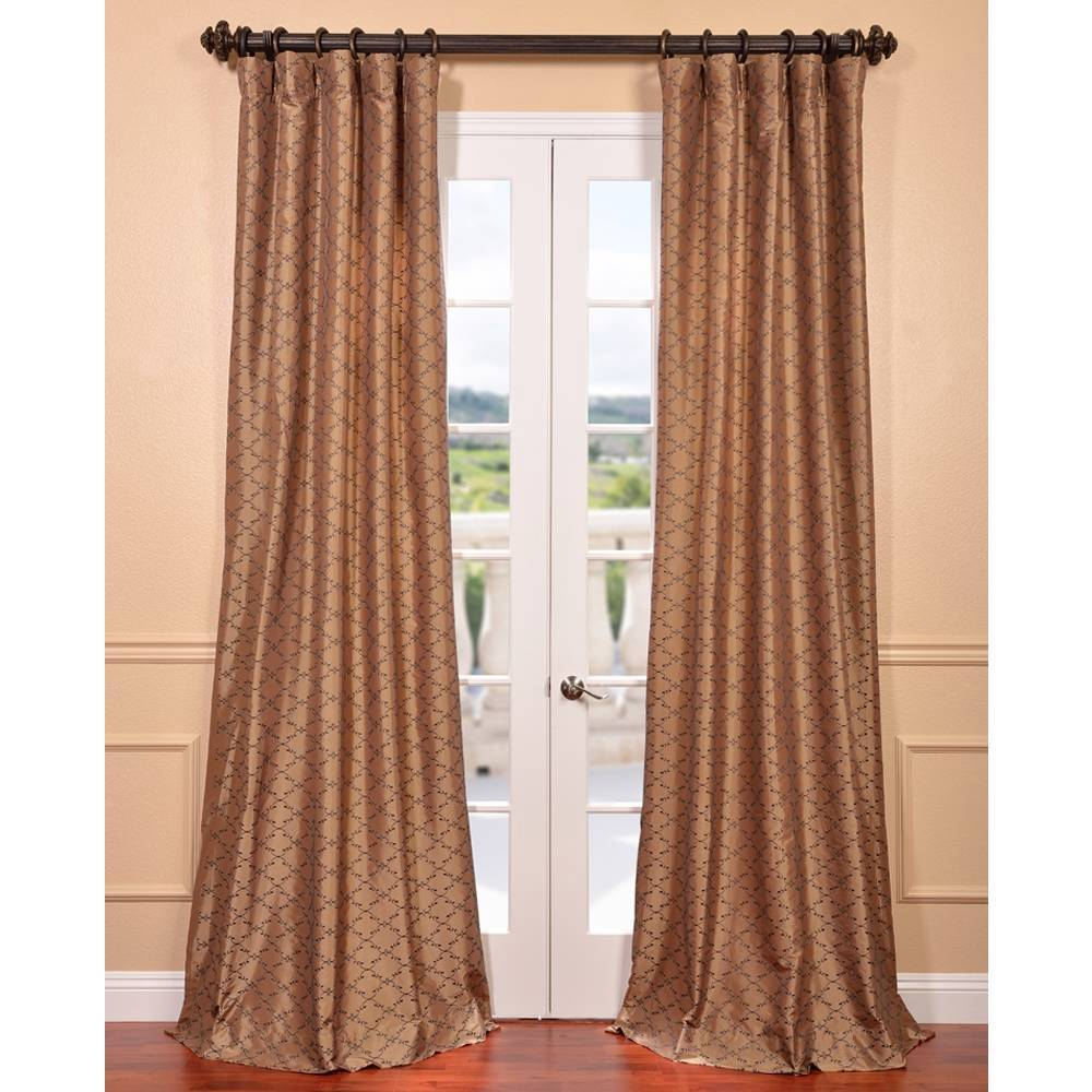 EFF Morraccan Bronze Embroidered Faux Silk Curtain Panel at Sears.com