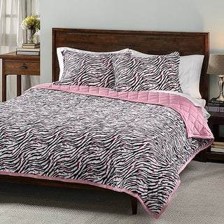 Zebra Hearts 3-piece Comforter Set