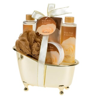 Gold Tub White Rose Jasmine Gift Set