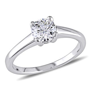 Miadora 14k Gold 4/5ct TDW Certified Round Solitaire Diamond Ring
