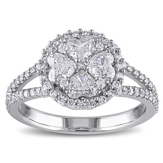Miadora 14k White Gold 1 1/10ct TDW Certified Diamond Ring (G-H, I1-I2)