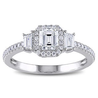 Miadora 14k White Gold 1 1/5ct TDW Emerald Cut Diamond Ring (G-H, SI1-SI2)