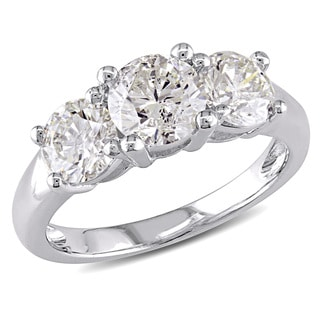 Miadora 14k Gold 2ct TDW Round Three Stone Traditional Diamond Ring (J-K,I1-I2)
