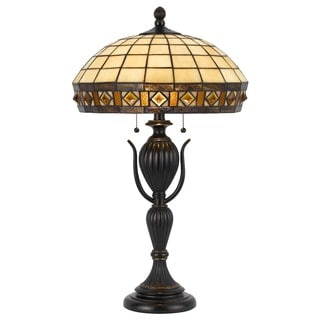 Cal Lighting Tiffany Dark Bronze Table Lamp