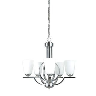 Meridian Halo Polished Chrome Chandelier