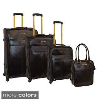 Adrienne Vittadini 4-piece Solid Spinner Luggage Set