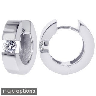 14k/ 18k Gold 3/4ct TDW Diamond Cuff Earrings (F-G, SI1-SI2)