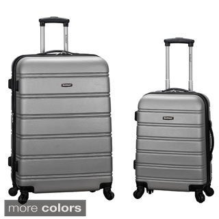 Rockland Super Light Weight 2-piece Expandable Hardside Spinner Upright Luggage Set