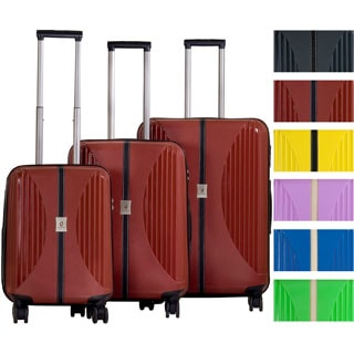 CalPak 'Jubilee' 3-piece Lightweight Polypropylene Hardsided Spinner Luggage Set