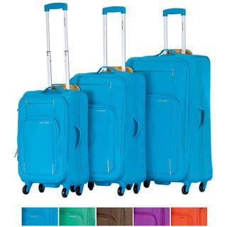 "CalPak ""Zephyr"" 3-piece Lightweight Softside Spinner Luggage Set"