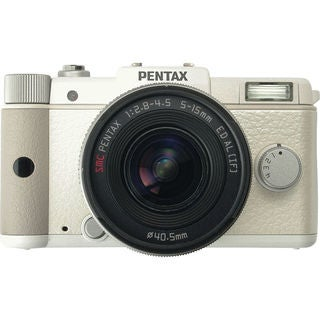 Pentax Q 12.4MP White Digital SLR Camera with 5-15mm Lens