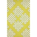 nuLOOM Hand-hooked Modern Lattice Gold Rug (7'6 x 9'6)