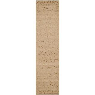 Safavieh Hand-knotted Tibetan Gold Wool/ Silk Rug (2'6 x 10')