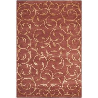 Safavieh Hand-knotted Tibetan Rust/ Gold Wool/ Silk Rug (2' x 3')