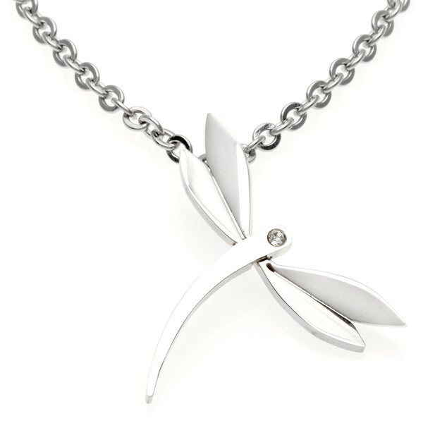 Alexa Starr Stainless Steel Chain Necklace with Dragonfly Pendant