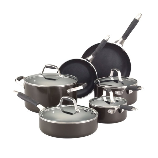 Guy Fieri Graphite 10-piece Nonstick Cookware Set