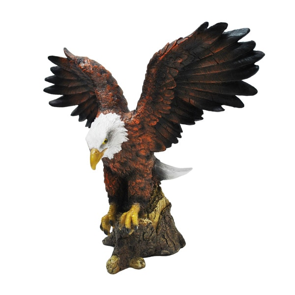 Resin Stone Bald Eagle Statue 15774842 Overstock Com