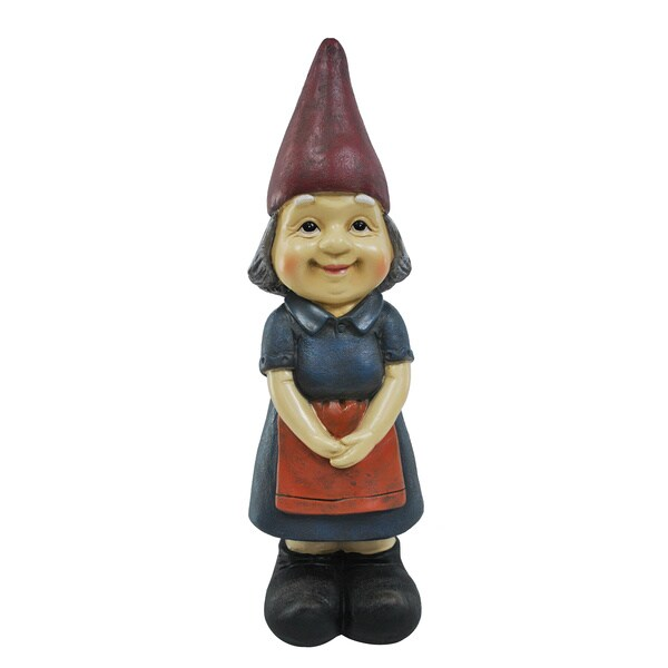 Mrs. Gnome Resin-stone Statue