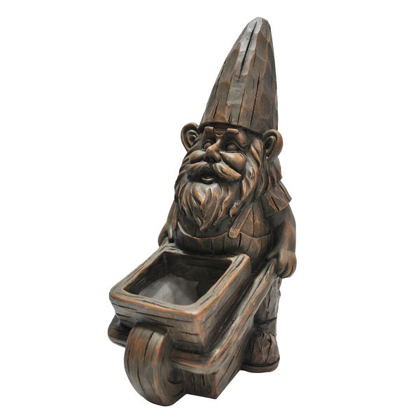 Wheelbarrow Planter Gnome Statue