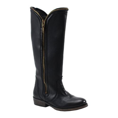 Women's Bronx Try Umph Black Shiny Cow Leather/Lizard Leather