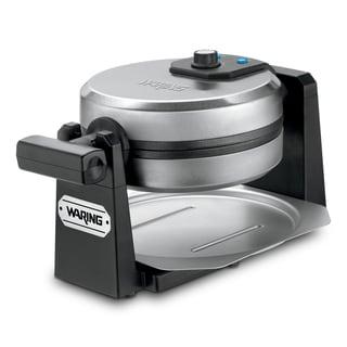 Waring WMK200 1000-Watt Stainless Steel/Black Belgian Waffle Maker