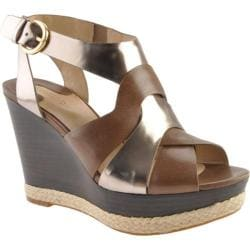 Women's Joan & David Isleen Light Grey/Dark Silver Leather