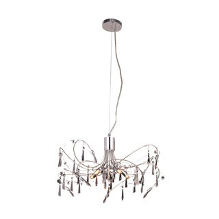 Christopher Knight Home Grandcour 5-light Royal Cut Crystal and Chrome Pendant
