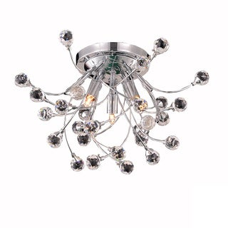 Somette Bulle 3-light Royal Cut Crystal and Chrome Flush Mount