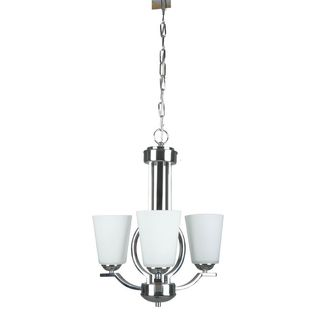 3-light Polished Chrome Chandelier