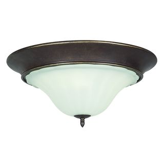 Wingate 3-light Black Onyx Flush Mount