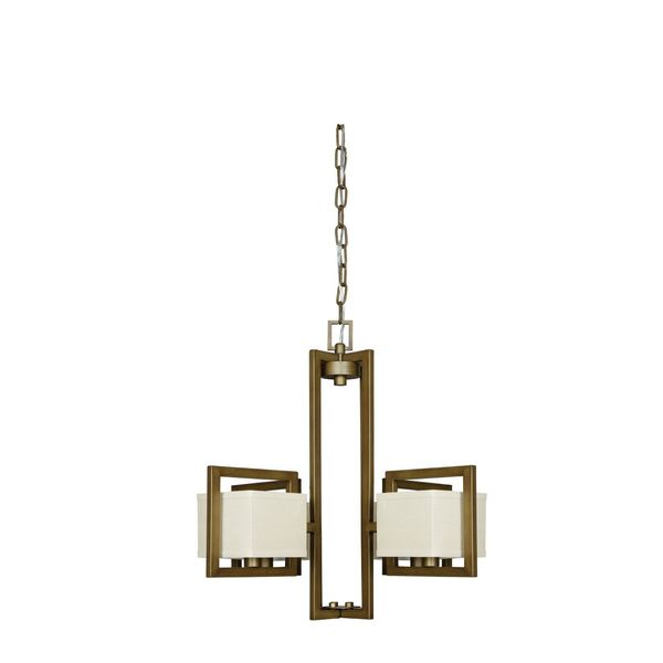Burnished Brass 4-light Akimbo Chandelier