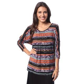 24/7 Comfort Apparel Women's 3/4 Split Sleeve Top
