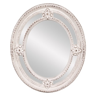 Maxine White Oval Mirror