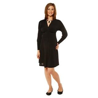 24/7 Comfort Apparel Women's Long Sleeve Empire Dress