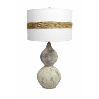 Acacia Wood Peanut Table Lamp