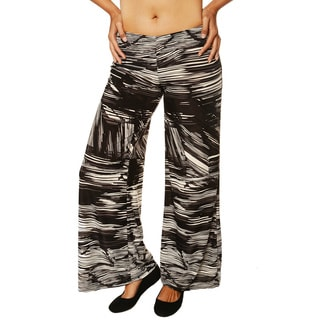 24/7 Comfort Apparel Women's 'Palazzo' Printed Wide-leg Pants