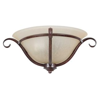1-light Rubbed Bronze Quarter Sconce