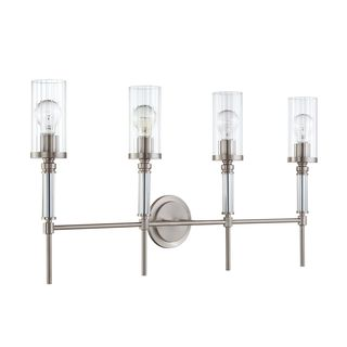 4-light Satin Nickel Cosmopolitan Bath Vanity