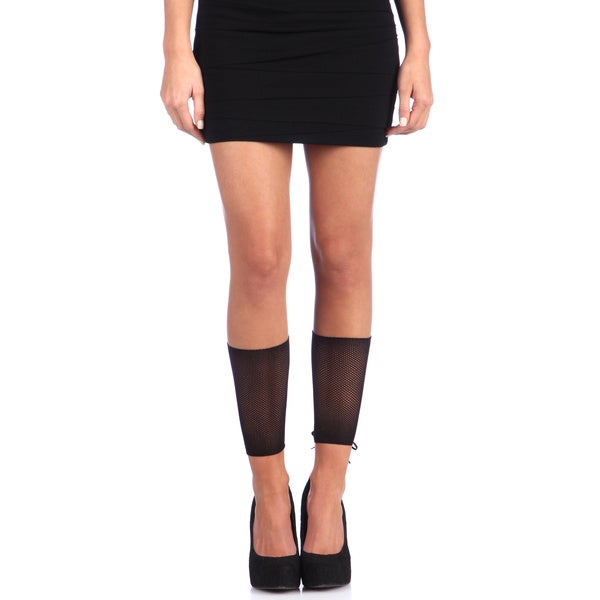 Hustler Black Corset Back Knee-high Leg Warmers (Set of 2)