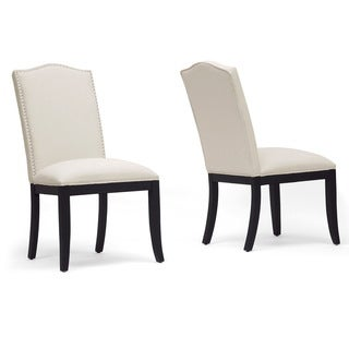 Baxton Studio Tyndall Beige Linen Modern Dining Chairs (Set of 2)