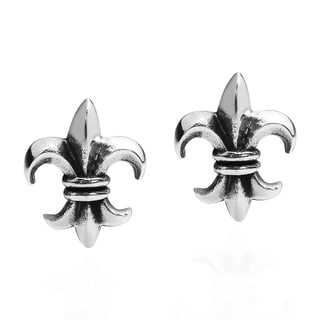 Mini Fleur de Lis Sterling Silver Stud Earrings (Thailand)