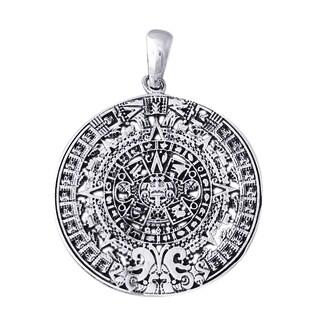 Historic 2012 Mayan Calendar .925 Sterling Silver Pendant (Thailand)